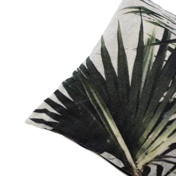PTMD Jungle green katoen fluweel kussen